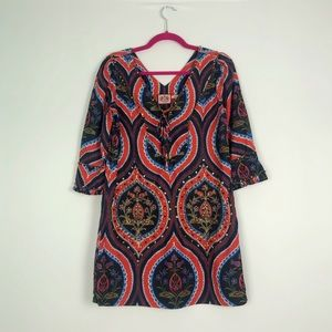 Juicy Couture Peasant Style Boho Dress 100% Silk 2